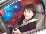 Cindy's car was FULL of Balloons!  She could only turn one way on her way to Canards since she could not SEE!