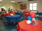 Yes -- the balloons fell overnight!! Oh well!!  Was still pretty : )