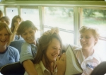 Jan Clowers, Kathi Barnes, Kathy Edmondson & Rhonda Jones coming back from Folly Beach end of Senior year.