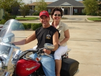 Chuck Adams takes Karen Hamilton McCourt for a ride too!  This picture is from our 30th Reunion!