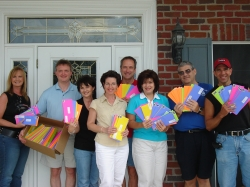 Mailing letters in September 2006.  Melinda, Derrick, Cindy, Karen, John, Dawn, Greg and Chuck.