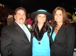 Rick Williams with his daughter Kelsey and wife Sherry.  Kelsey was a Sophomore maid on the Homecoming Court.  Congratul